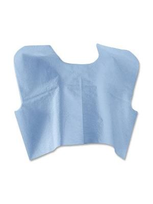 Medline Disposable Blue Patient Capes - Poly, Tissue - For Medical - Blue - 100 / Carton
