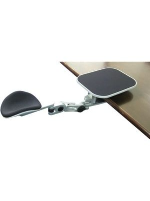 Ergoguys EG-ErgoArm Ergonomic Adjustable Computer Arm Rest with Mouse Pad - Silver