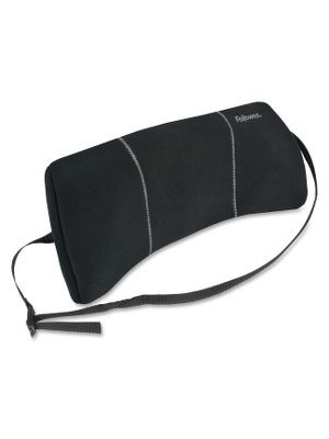 Fellowes Lumbar Back Support - Adjustable Strap, Low Profile Design, Soft Brushed Cover - 12