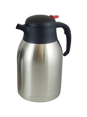 Genuine Joe Double Wall Stainless Vacuum Insulated Carafe - 2.1 quart (2 L) - Vacuum - Stainless Steel