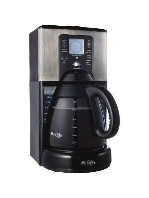 Mr. Coffee Classic Coffee 12-Cup Programmable Coffeemaker - Programmable - Yes - 12 Cup(s) - Multi-serve - Coffee Strength Setting - Yes - Black, Gray, Stainless Steel - Metal, Plastic