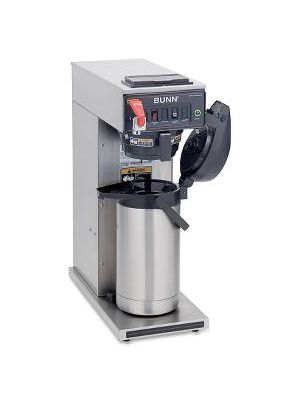 BUNN Airpot Coffee Brewer - 1370 W - 1 Cup(s) - Single-serve - Yes - Stainless Steel