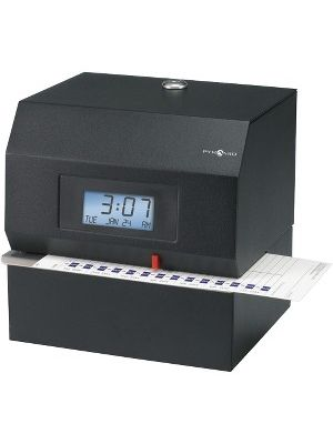 Pyramid Time Systems 3700 Heavy-duty Electric Time Clock - Card Punch/StampUnlimited Employees - Digital