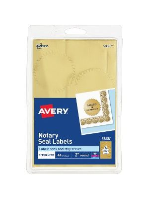 Avery® Printable Gold Foil Notarial Seals - Round - 2
