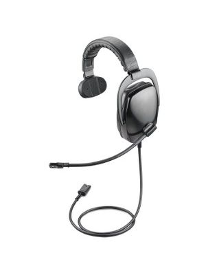 Plantronics SHR2082-01 Headset - Mono - Black, Gray - Quick Disconnect - Wired - Over-the-head - Monaural - Ear-cup - 3.50 ft Cable - Noise Cancelling Microphone