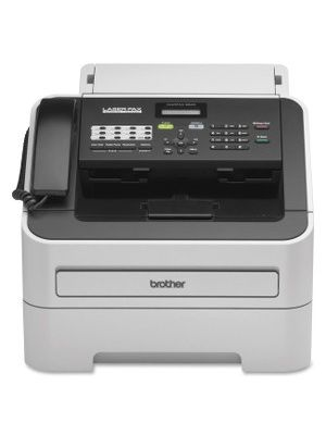 Brother IntelliFAX 2840 Laser Fax - Laser - Monochrome Sheetfed Digital Copier - 20 cpm Mono - 300 x 600 dpi - 250 Sheets Input - Plain Paper Fax - Corded Handset - 33.60 kbit/s Modem