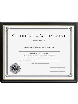 Lorell Multipurpose Frame with Certificate of Achievement - 8.50
