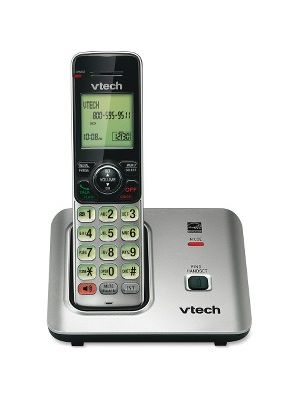 VTech CS6619 DECT 6.0 Expandable Cordless Phone with Caller ID/Call Waiting, Silver with 1 Handset - Cordless - 1 x Phone Line - Speakerphone - Hearing Aid Compatible - Backlight