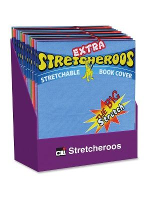 CLI Extra Stretcheroos Bk Cover Display - Supports Book - Flexible, Stretchable - Fabric - Assorted - 36