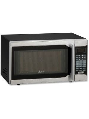 Avanti 700-watt One-Touch Microwave - Single - 5.24 gal Capacity - Microwave - 700 W Microwave Power - 110 V AC - Countertop - Black, Stainless Steel
