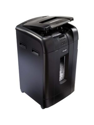 Swingline® Stack-and-Shred™ 750X Auto Feed Shredder, Super Cross-Cut, 750 Sheets, 20+ Users - Continuous Shredder - Super Cross Cut - 12 Per Pass - for shredding Paper, CD, Credit Card, Staples, Paper Clip, DVD - 0.188