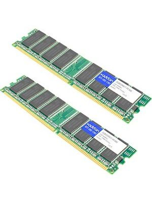 AddOn AA32C12864-PC400 x2 JEDEC Standard 2GB (2x1GB) DDR-400MHz Unbuffered Dual Rank 2.5V 184-pin CL3 UDIMM - 100% compatible and guaranteed to work