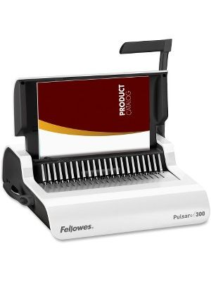 Fellowes Pulsar™+ 300 Comb Binding Machine w/Starter Kit - CombBind - 300 Sheet(s) Bind - 20 Punch - Letter - 5.1