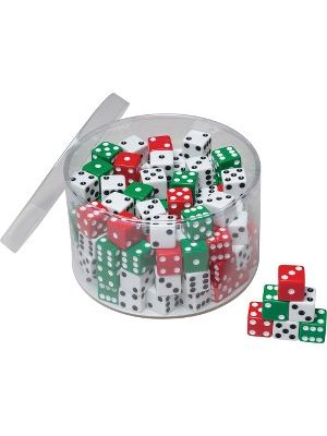 Creativity Street 144pc Tub of Dice - 144 Pieces