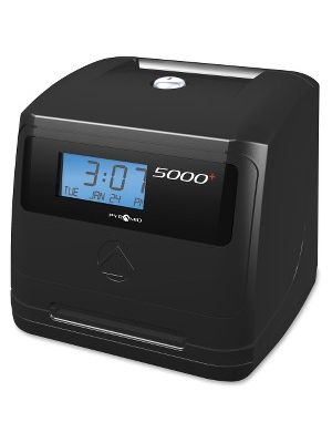 Pyramid Time Systems 5000 Automatic Time Clock - Card Punch/Stamp - 100 Employees