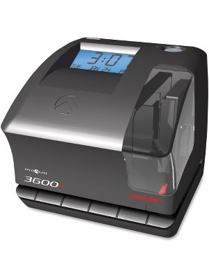 Pyramid Time Systems 3600SS Time Clock and Document Stamp - Card Punch/Stamp
