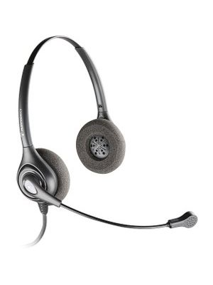 Plantronics SupraPlus SDS 2491-01 Headset - Stereo - Quick Disconnect - Wired - Over-the-head - Binaural - Circumaural - Noise Cancelling Microphone - Noise Canceling