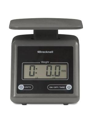 Brecknell Electronic 7lb Postal Scale - 7.24 lb / 3.29 kg Maximum Weight Capacity - Gray