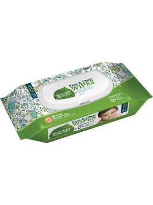 Seventh Generation Hypoallergenic Natural Baby Wipes - 2 Ply - Natural - Paper - Alcohol-free, Hypoallergenic, Fragrance-free, Dye-free, Eco-friendly, Chlorine-free, Phthalate-free, Paraben-free - 64 Sheets - 1 / Pack