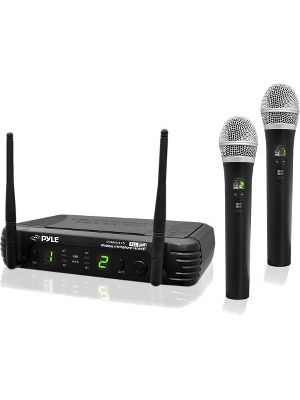 PylePro Professional Premier Series PDWM3375 Wireless Microphone System - 673 MHz to 697.98 MHz Operating Frequency - 164 ft Operating Range