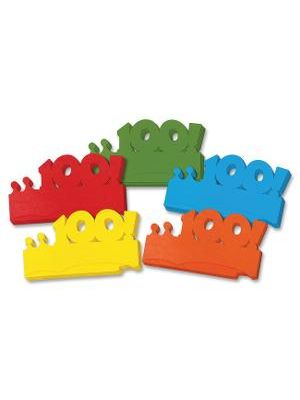 Creativity Street Bright 100! Paper Crowns - 100 - 25/Pack - Assorted