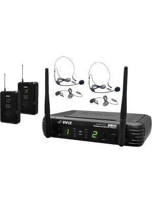 PylePro Premier PDWM3400 Wireless Microphone System - 673 MHz to 697.98 MHz Operating Frequency - 164 ft Operating Range