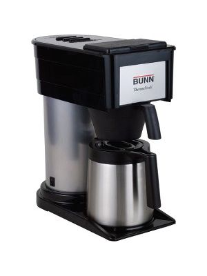 BUNN 10-cup Thermofresh Home Brewer - 900 W - 10 Cup(s) - Multi-serve - Black, Silver - Stainless Steel