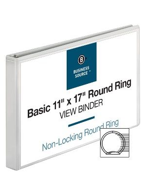Business Source Tabloid-size Round Ring Reference Binder - 1
