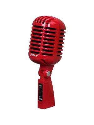 Pyle Classic PDMICR42R Microphone - 30 Hz to 15 kHz - Wired - 16 ft -50 dB - Dynamic - Stand Mountable - XLR