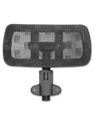 Lorell 85560 Mesh Headrest - Black - Nylon - 1 Each