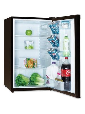 Avanti AR4446B 4.3CF Refrigerator - 4.50 ft³ - Auto-defrost - Reversible - 4.50 ft³ Net Refrigerator Capacity - 269 kWh per Year - Black, Stainless Steel - Built-in