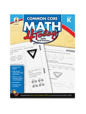 Carson-Dellosa Gr K Common Core Math 4 Today Workbook Education Printed Book for Mathematics - English - Book - 96 Pages