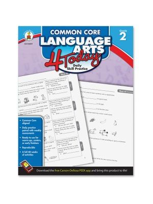 Carson-Dellosa Grade 2 Common Core Language Arts Workbook Education Printed Book - English - Book - 96 Pages