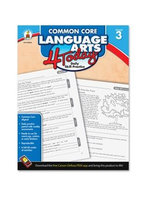 Carson-Dellosa Grade 3 Common Core Language Arts Workbook Education Printed Book - English - Book - 96 Pages