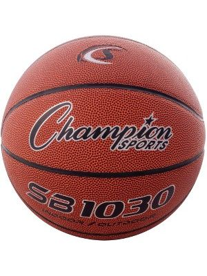 Champion Sport s Intermdt-size Composite Basketball - Official - Orange - 1  Each