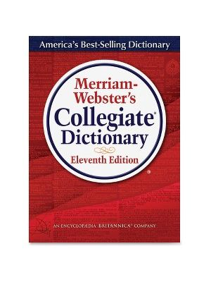 Merriam-Webster 11th Ed. Collegiate Dictionary Dictionary Printed/Electronic Book - English - Hardcover, CD-ROM - 1664 Pages
