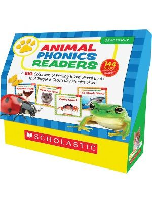 Scholastic Res. Grade K-2 Animal Phonics Reader Book Set Education Printed Book by Liza Charlesworth - English - Book