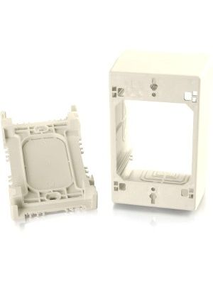 C2G Wiremold Uniduct Single Gang Extra Deep Junction Box - Ivory - 1-gang - Ivory