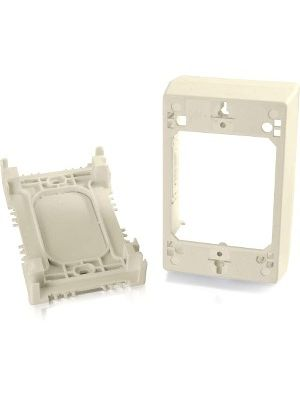 C2G Wiremold Uniduct Single Gang Deep Junction Box - Ivory - 1-gang - Ivory