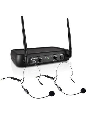 PylePro PDWM2145 Wireless Microphone System - 174 MHz to 216 MHz Operating Frequency - 50 Hz to 15 kHz Frequency Response