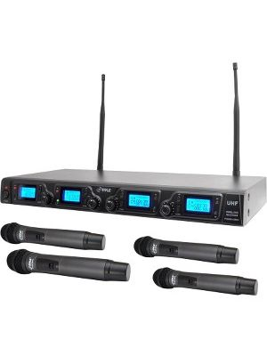 Pyle PDWM4360U Wireless Microphone System - 673 MHz to 697.98 MHz Operating Frequency
