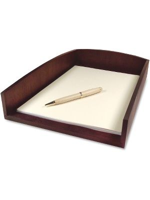 Artistic Eco-friendly Bamboo Curves Letter Tray - 1 Compartment(s) - 1 Tier(s) - 2.5