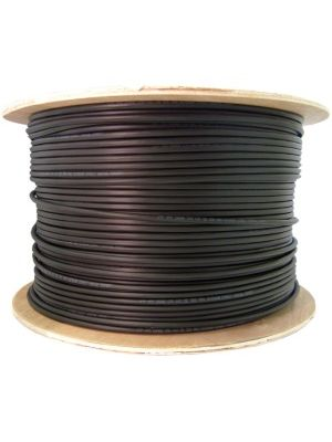 4XEM Outdoor CAT 5E Network Cable - Category 5e for Network Device - 125 MB/s - Patch Cable - 1000 ft - Bare Wire - Bare Wire - Black