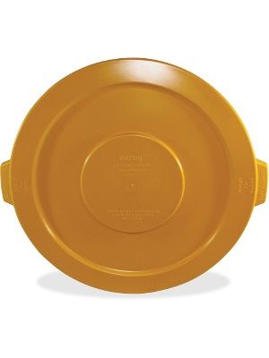 Gator 32-gallon Container Lid - Round - Polyethylene, Resin, Plastic - 1 Each - Yellow