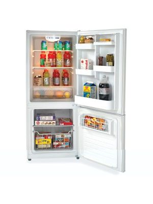 Avanti 9.2CF Refrigerator - 10.20 ft³ - No-frost - Reversible - 7.10 ft³ Net Refrigerator Capacity - 3.10 ft³ Net Freezer Capacity - 120 V AC - 370 kWh per Year - White - Glass