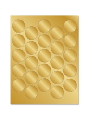 Geographics Gold Foil Seals - 1.75