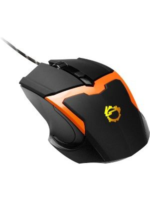 SIIG USB Optical Mouse with LED Backlit - Orange - Optical - Cable - Orange, Black - Retail - USB - 1600 dpi - Computer, Notebook - Scroll Wheel - 4 Button(s)