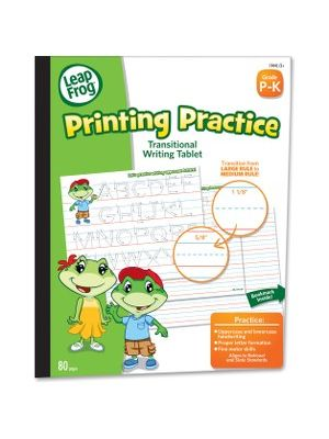 The Board Dudes LeapFrog Transitional Writing Tablet - 80 Sheets - Ruled - 8