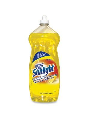 Sunlight Liquid Dish Cleaner - Concentrate Liquid - 0.30 gal (38 fl oz) - Lemon Scent - 1 Each - Yellow