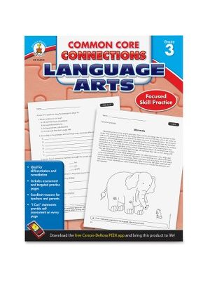 Carson-Dellosa CCC Grade 3 Language Arts Workbook Learning Printed Book for Art - English - Book - 96 Pages